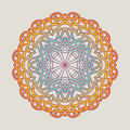 Vector vintage Mandala sign frame. Vintage decorative elements. Oriental pattern