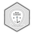 Vector vintage nautical label, icon and design element