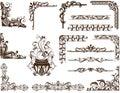 Vector vintage Ornamental frames and corners