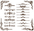 Vector vintage ornaments, corners, borders