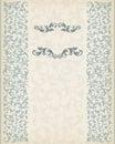 Vintage border frame decorative ornate calligraphy vector Royalty Free Stock Photo
