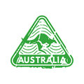 Vector vintage postage australia mail stamp.