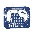 Vector vintage postage italia mail stamp.