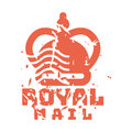 Vector vintage postage royal mail stamp.