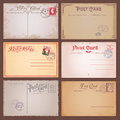 Vector Vintage Postcards Royalty Free Stock Photos