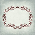 Vector vintage retro border frame Stock Photography