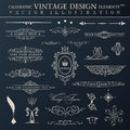 Vector vintage set. Calligraphic elements and page decoration pr Royalty Free Stock Photo