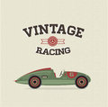 Vector vintage sport racing cars Royalty Free Stock Images