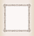 Vector vintage Square frame retro pattern ornament Royalty Free Stock Photos