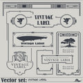 Vector vintage style labels and tags on different versions Royalty Free Stock Photo