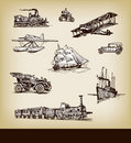 Vector vintage transport Royalty Free Stock Photography
