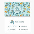 Vector visiting business set template with cute hand drawn patte