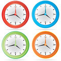 Vector  Wall Clock Set Stock Images