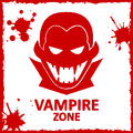 Vector wall graffiti vampire zone about red color Royalty Free Stock Image
