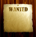 Vector Wanted Poster Royalty Free Stock Photography