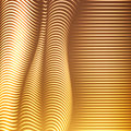 Vector warped dotted lines background. Flexible stripes of shining points twisted as silk forming volumetric folds.