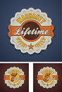 Vector warranty term fabric badge Royalty Free Stock Images