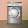 Vector washing machine illustration of Stock Image