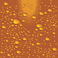 Vector water bubbles on beer glass Stock Photography