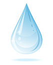 Vector water drop isolated white background Royalty Free Stock Image