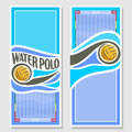 Vector Water Polo vertical banners Royalty Free Stock Photo
