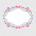 Vector watercolor colorful floral wreaths frame and central white copy space for your text save the date Royalty Free Stock Images