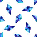 Vector Watercolor illustration of diamond crystals - seamless pattern. Stone jewel background. Can be used for textile