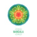 Vector watercolor mandala decor for your design lace ornament round pattern oriental style Stock Image
