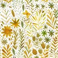 Vector watercolor pattern, floral texture with hand drawn  flowers and plants. Floral ornament. Original floral background. Royalty Free Stock Photo