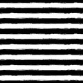 Vector watercolor stripe grunge seamless pattern. Abstract black Royalty Free Stock Photo
