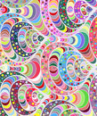 Vector wave background of doodle hand drawn lines
