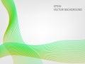 Vector waved line background