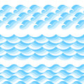 Vector waves patterns Royalty Free Stock Photo