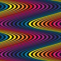 Vector wavy seamless pattern, curved lines, striped background.