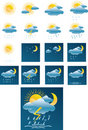 Vector weather forecast icons + All separate Stock Photos
