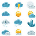 Vector weather forecast icons. Part 1 Stock Photography
