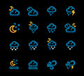 Vector weather forecast icons. Part 2 Stock Photos