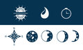 Vector weather icons set of Royalty Free Stock Images