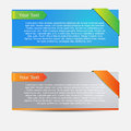 Vector Web Banner Stock Photography