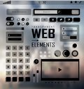 Vector Web Elements, Buttons and Labels. Site