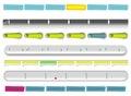 Vector Web glossy templates 1 Stock Photos