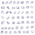 Vector Web icon doodles Stock Photos
