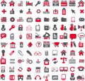Vector web icons the is a business icon Stock Photography