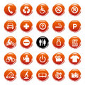 Vector Web icons, buttons. Round series Royalty Free Stock Photos