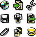 Vector web icons marker colour contour files Stock Image