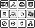 Vector web icons set – Hardware Royalty Free Stock Photography