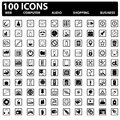 Vector web icons set web computer business shopping Stock Images
