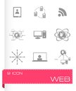 Vector web icons set Royalty Free Stock Photo