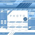 Vector web page template Stock Image