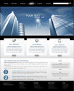 Vector web site  with building for business Royalty Free Stock Images